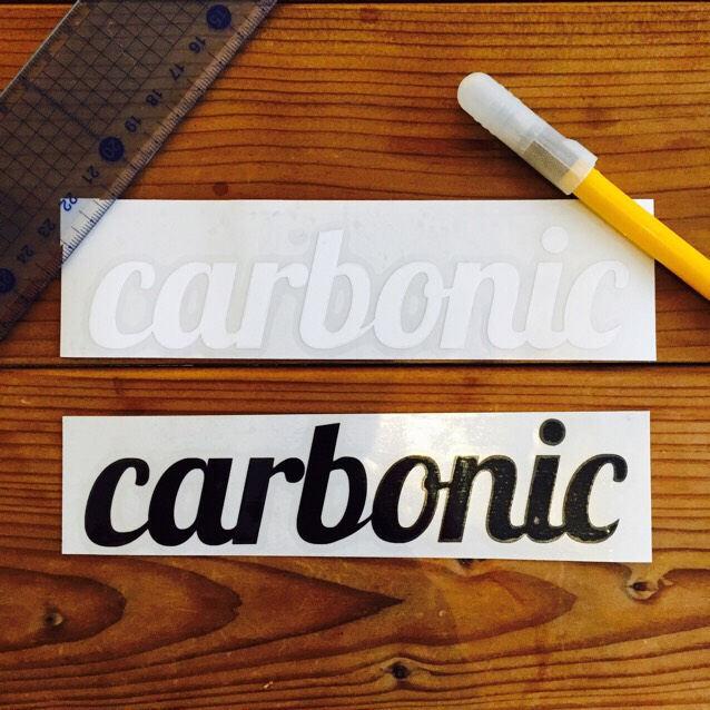 carbonic cutting sticker (L)