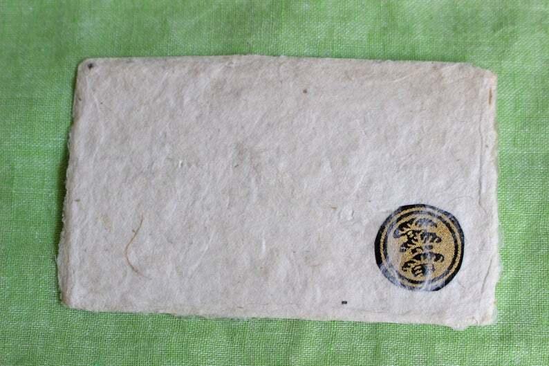 家紋入り名刺サイズ和紙ギフトカード3(封筒付)
