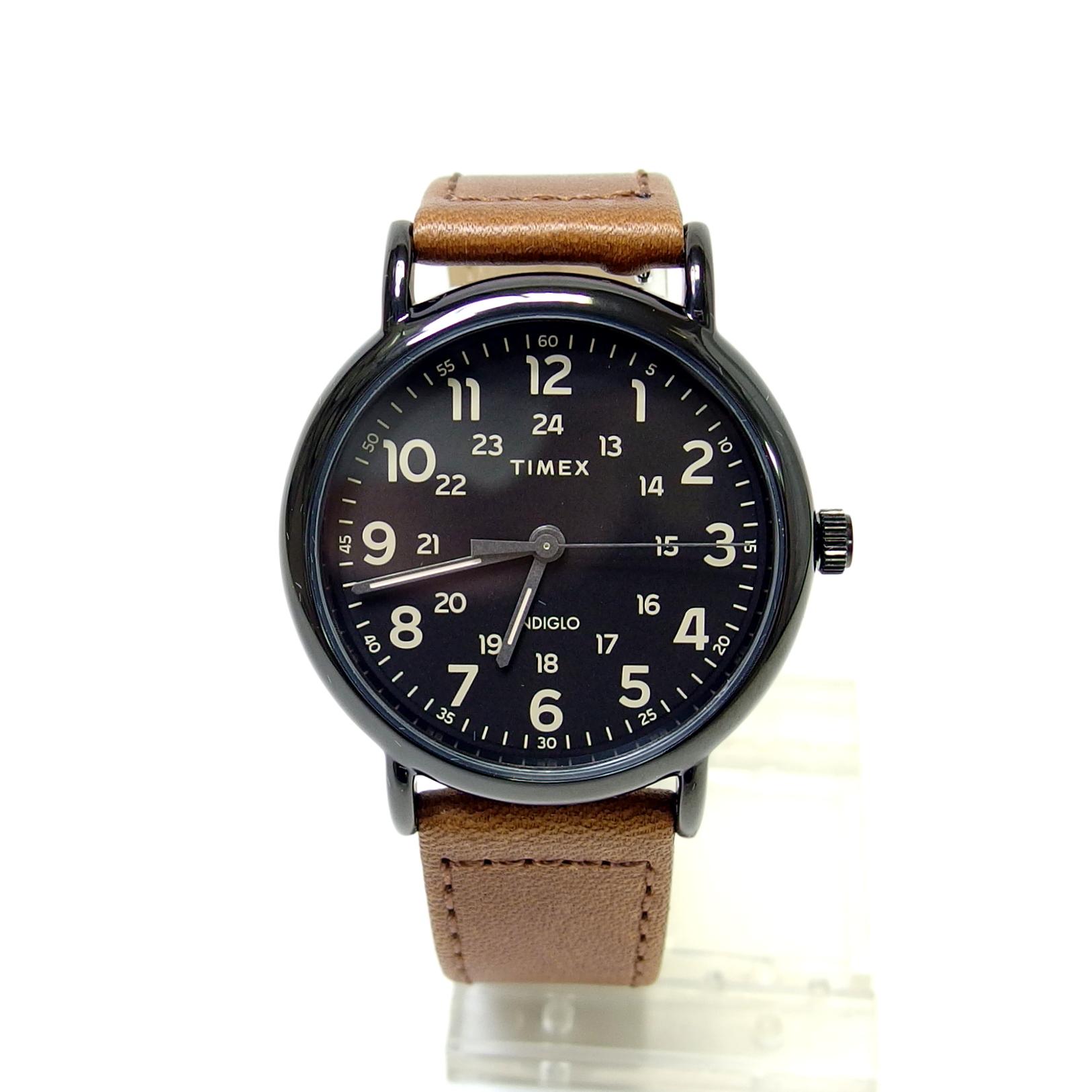 【TIMEX】ウィークエンダー (ブラック×ブラウン)TW2T30500