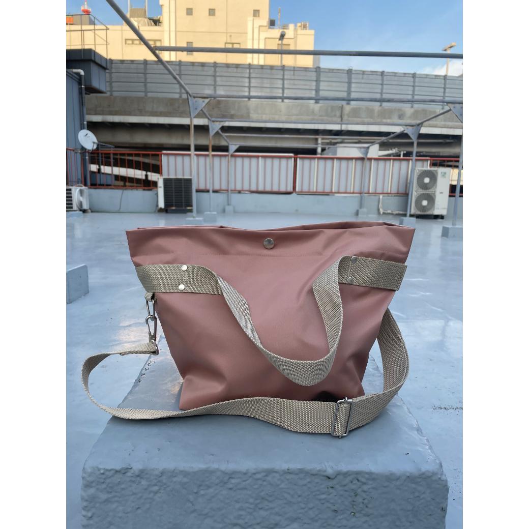 【sandglass】duffle bag(S)pink beige / 【サンドグラス】ダッフルバッグ(S)本体ピンクベージュ