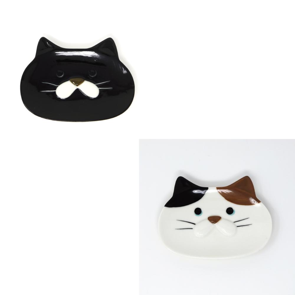 猫皿(ぽってりねこかお豆皿)全2種類
