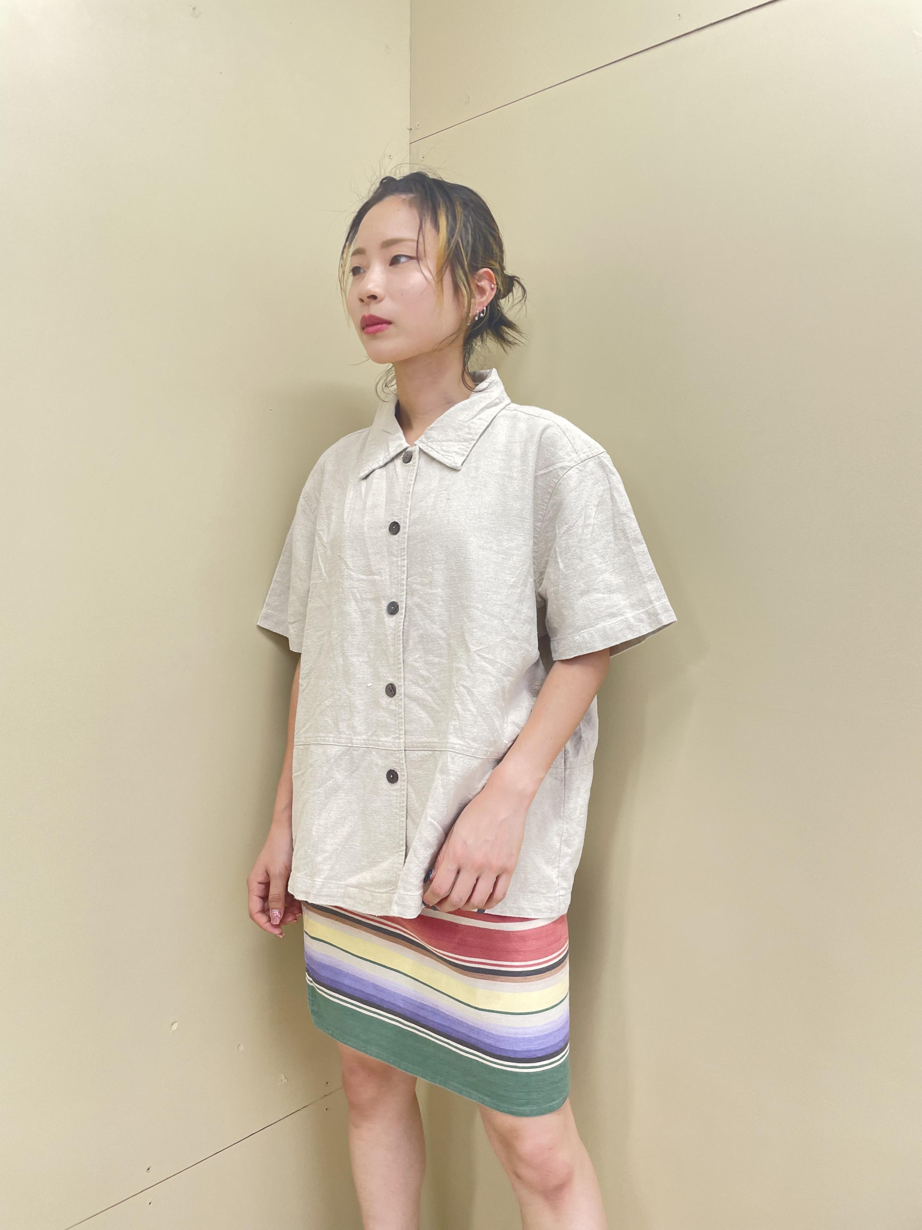 linen shirt jacket / 7SSTP01-18