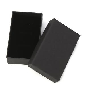 クラフト纸&スポンジ ジュエリーギフト ジュエリーボックス 長方形 黒 83mm x 52mm 、 2個  (B0114542)