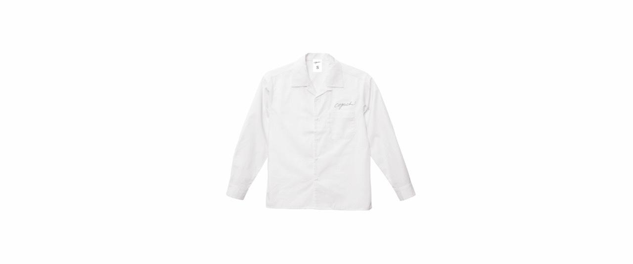 coguchi open collar shirt (WH/GRY)