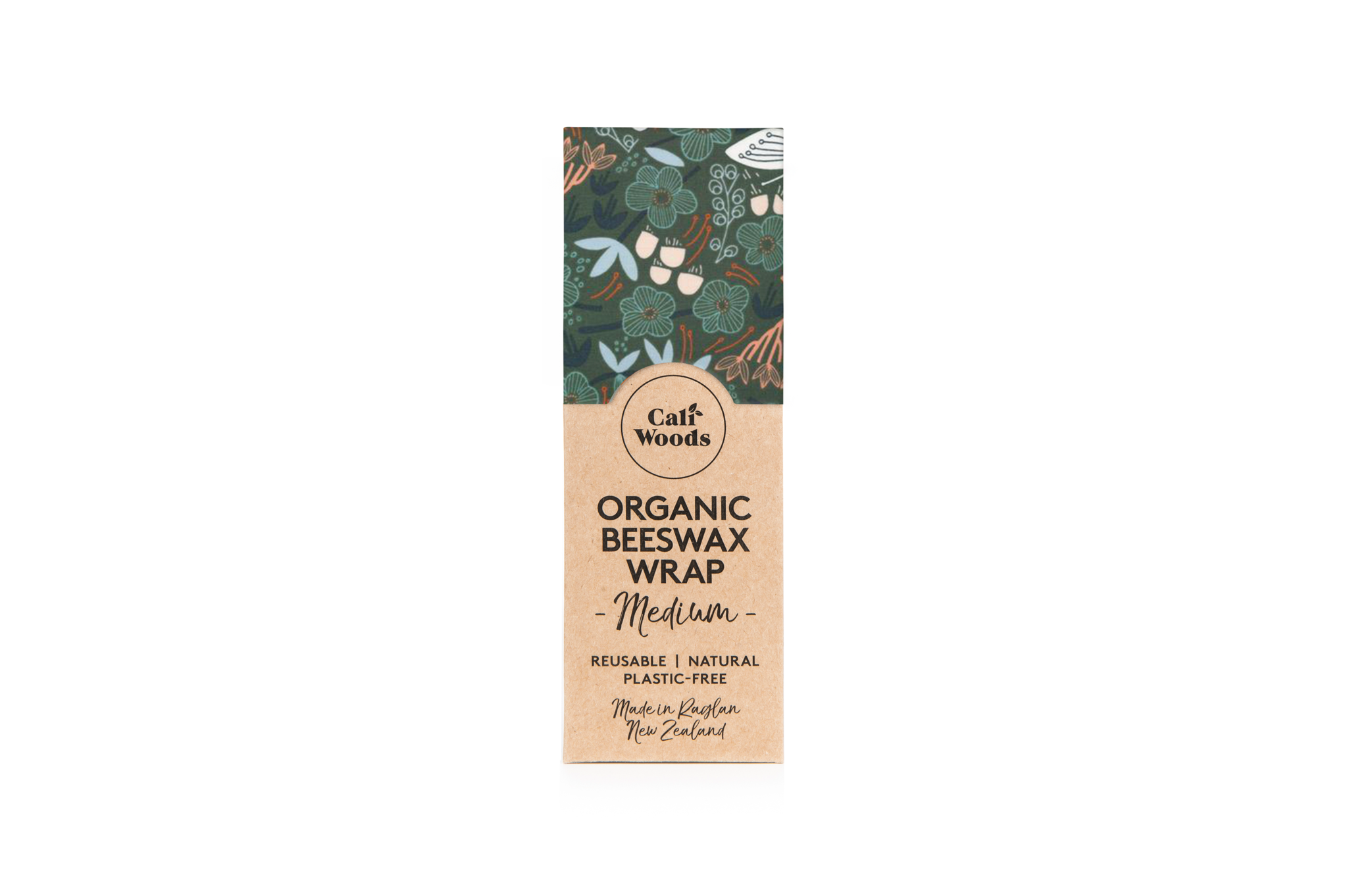 CaliWoods Beeswax Wraps Single Medium Green Forest