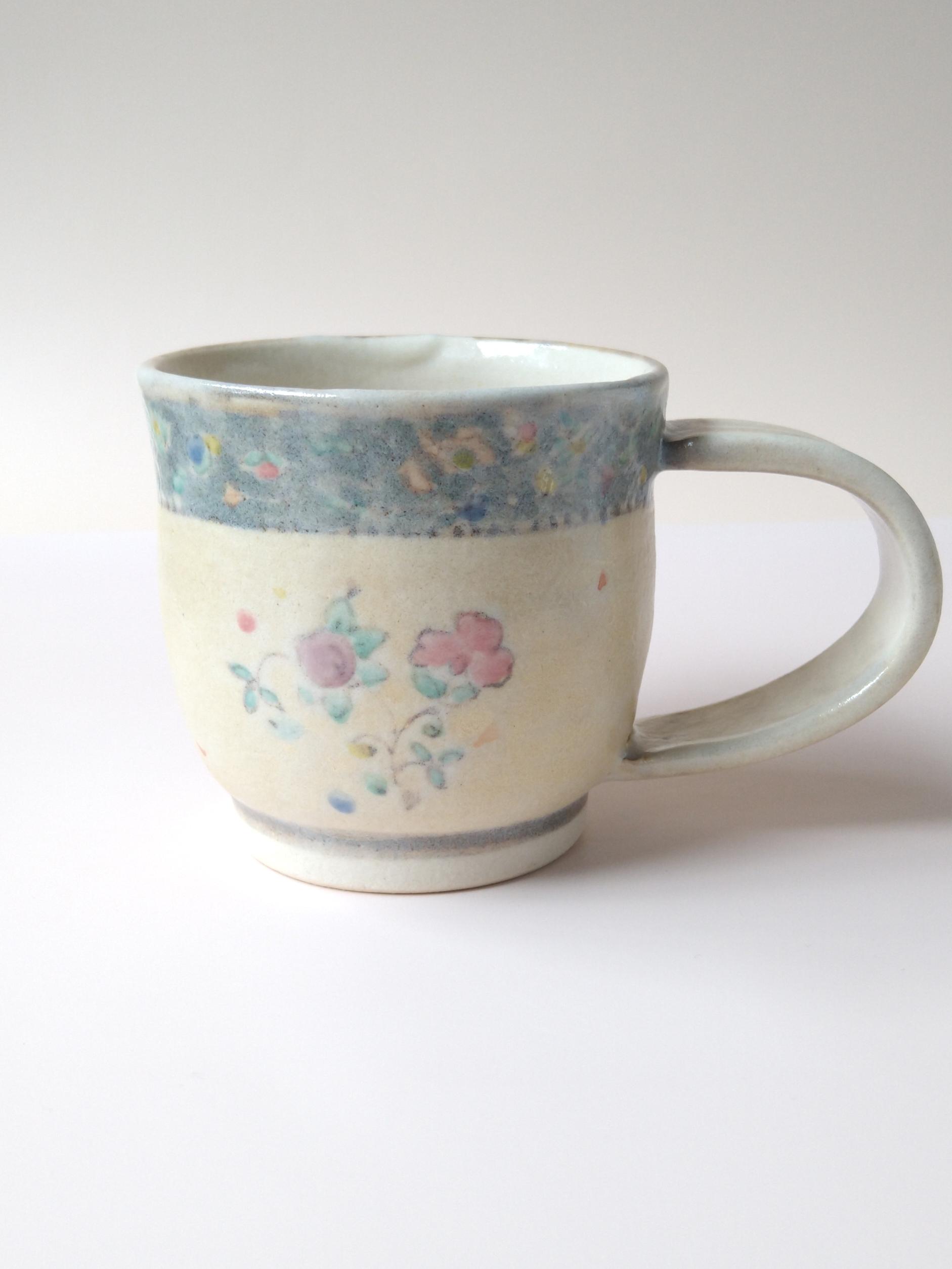 更紗コーヒーカップ アースカラー