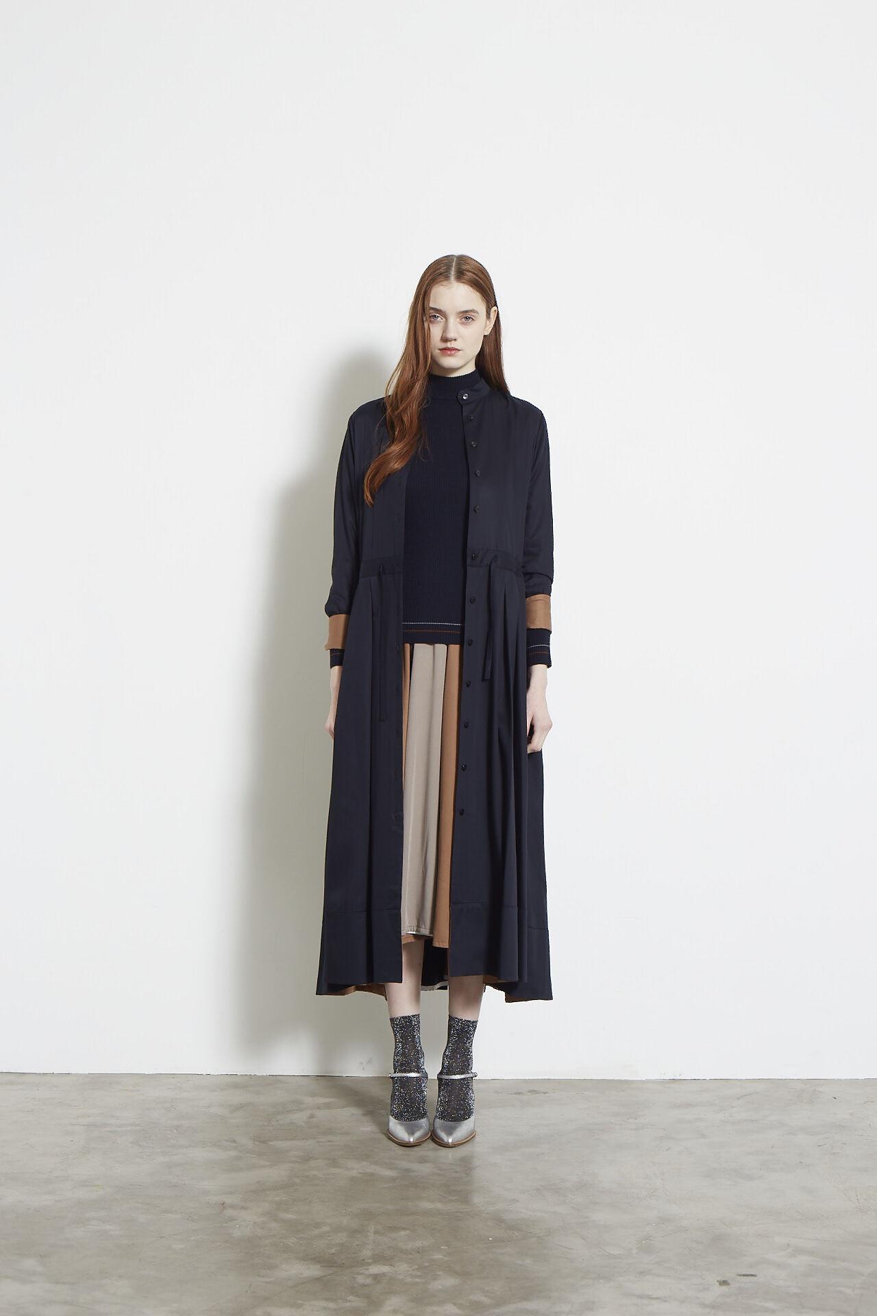 TWILL 2TONE SHIRT DRESS