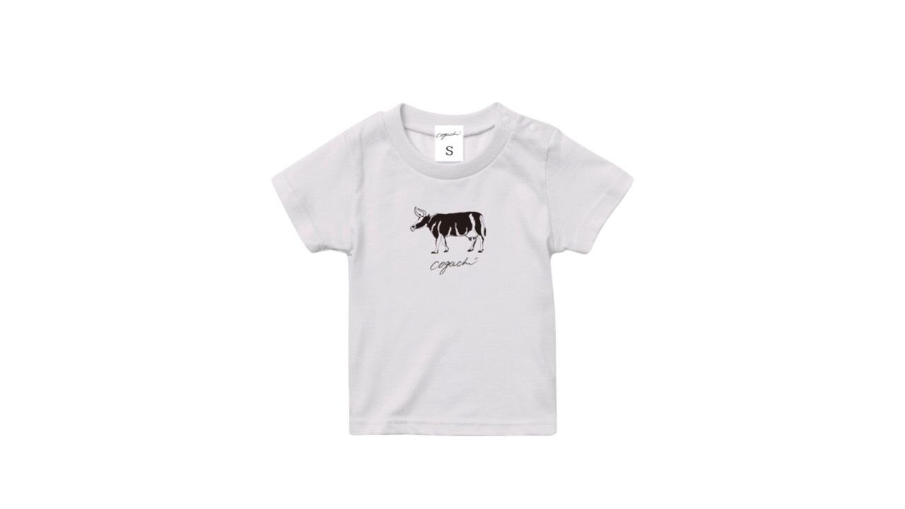 coguchi cow kids Tshirt (WH) 90cm