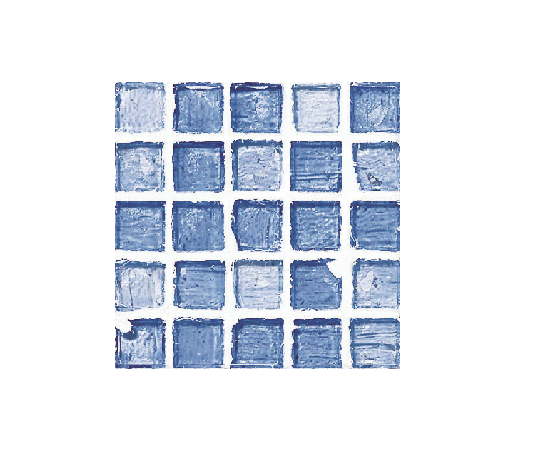 Staind Grass Mosaic【Aqua Blue/Natural】ステンドグラスモザイク【アクアブル-/ナチュラル】