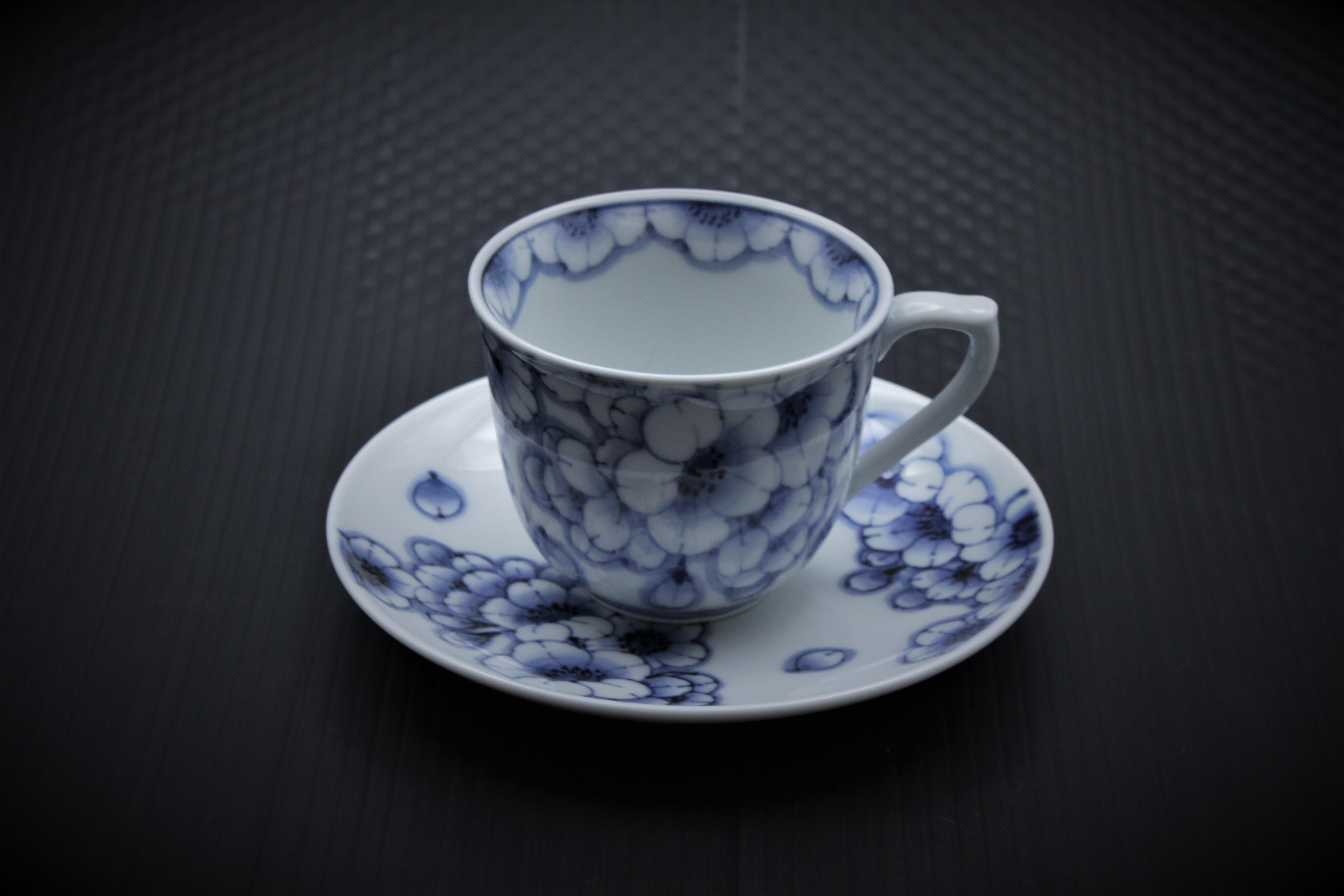 王冠桜コーヒーカップ&ソーサ