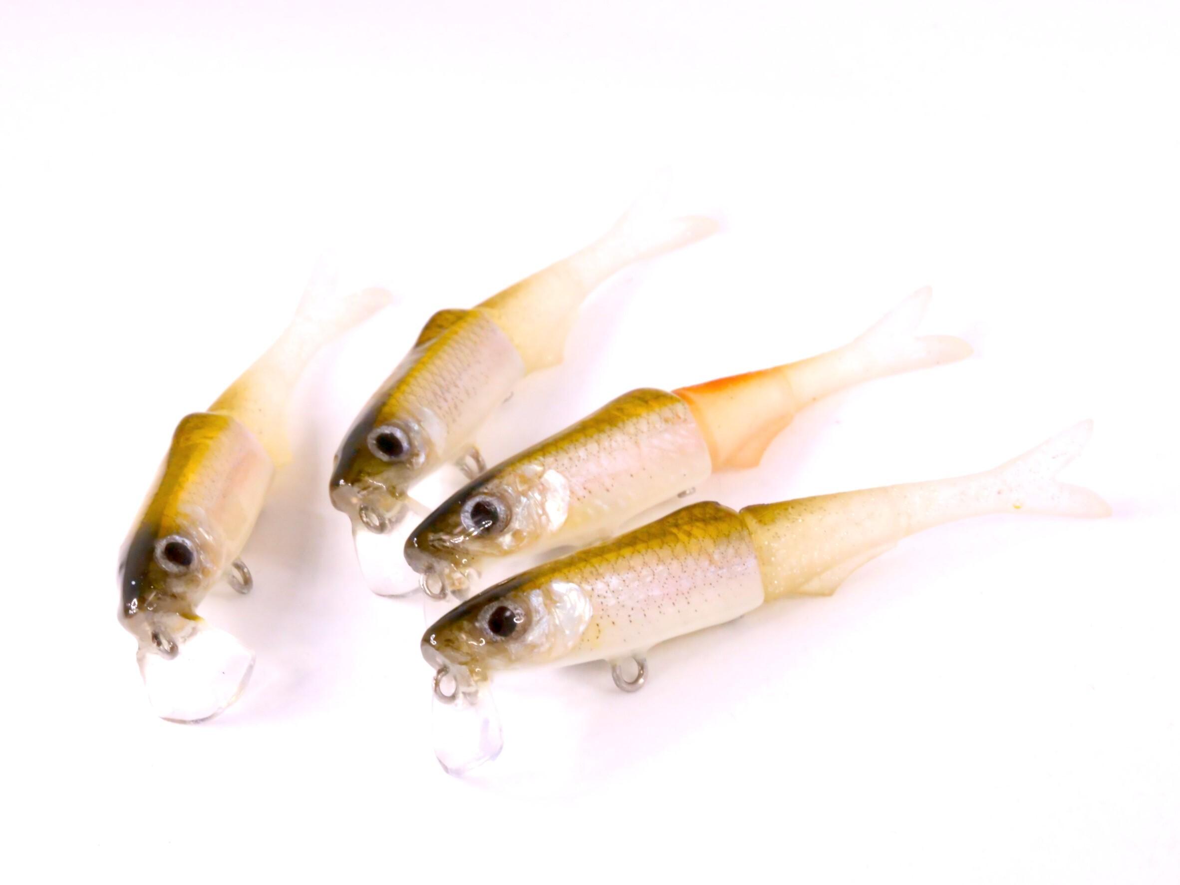 【フレッシュベイトルアーズ】剥製魚銀皮カスタム・ジャッカル  ハンプリー  ワカサギ皮