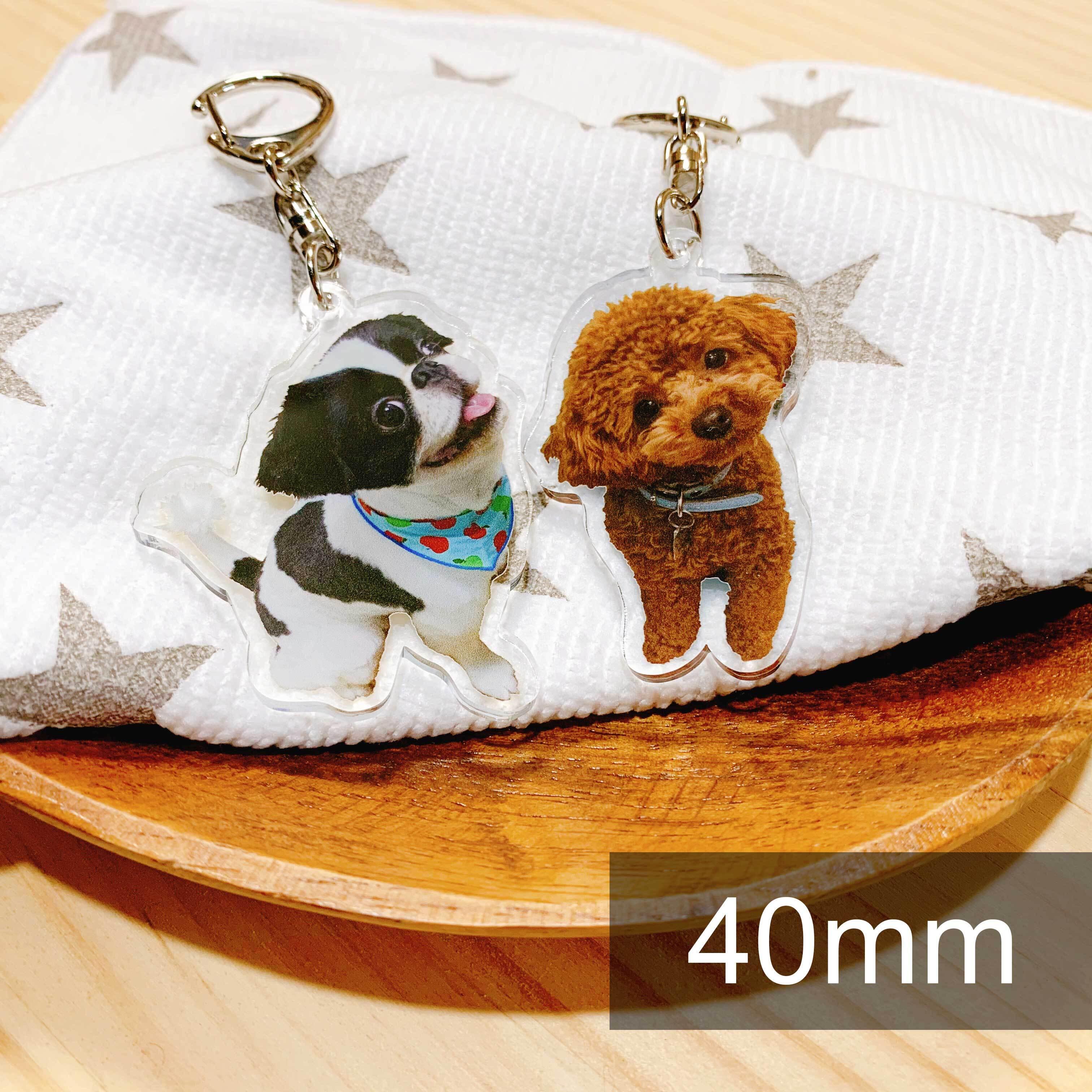 【受注商品】(両面印刷)40mm アクリルキーホルダー