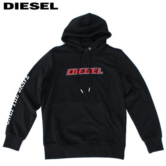 DIESEL ディーゼル パーカー スウェット プルオーバー 長袖 メンズ S-GIRK-HOOD-K10 BLACK