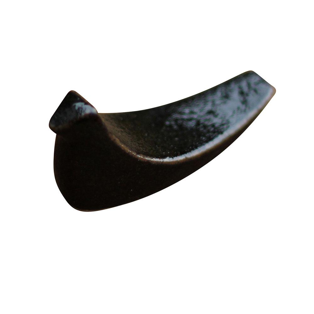益子焼 つかもと窯 トリの 箸置き 黒釉 SH-2