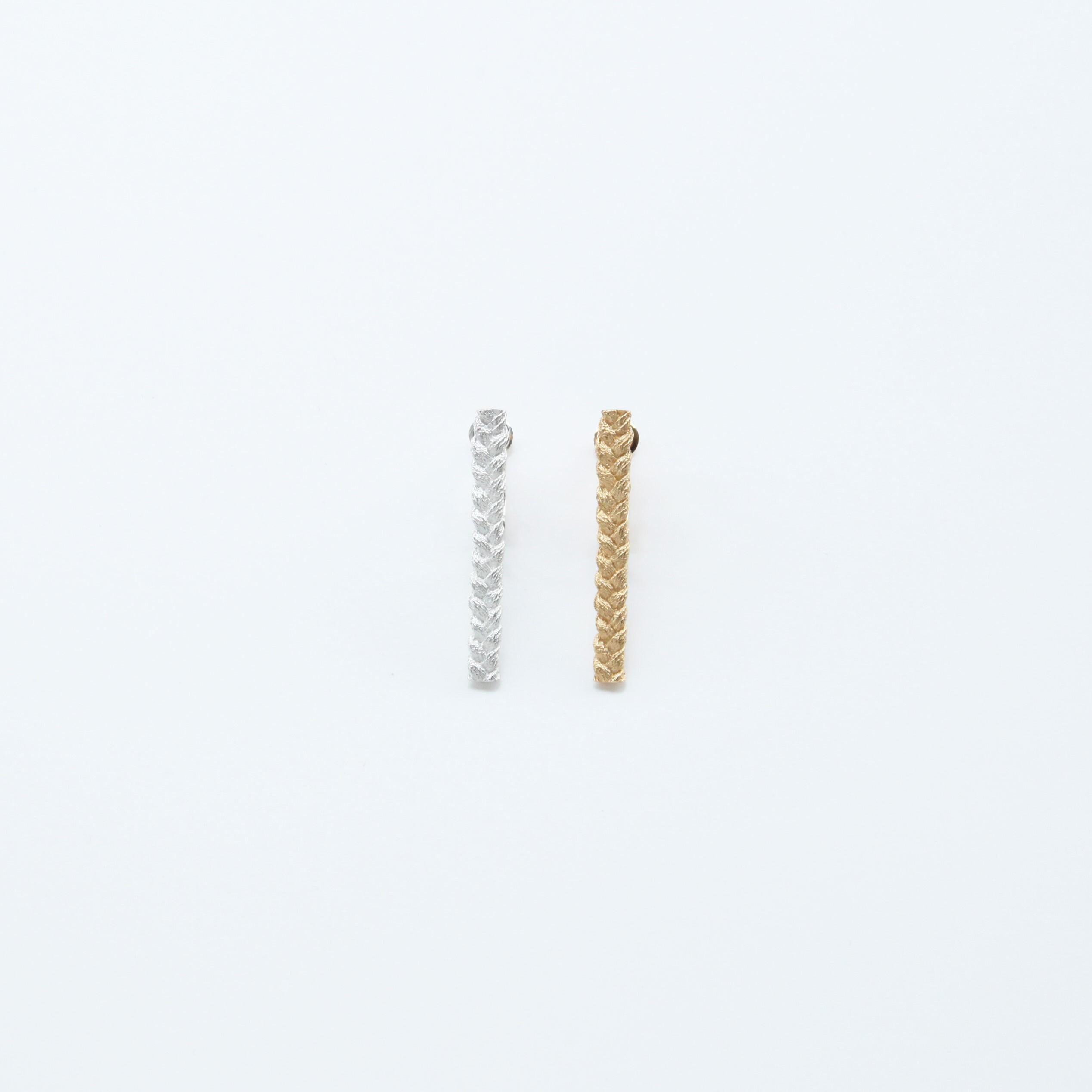 ciito (しいと) mitsuami earring (イヤリング) Lサイズ シルバー/ゴールド ※片耳販売