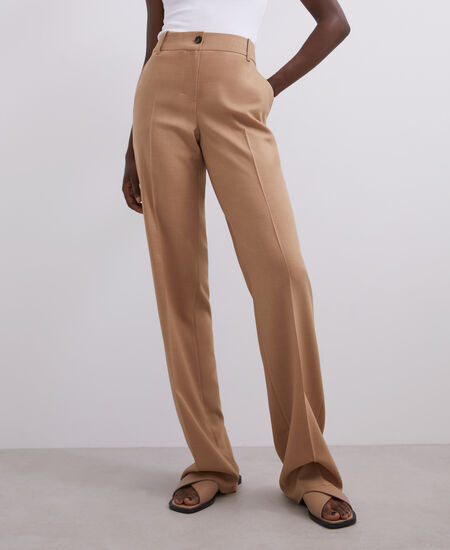 HIGH-WAISTED STRAIGHT TROUSERS [268111323111]