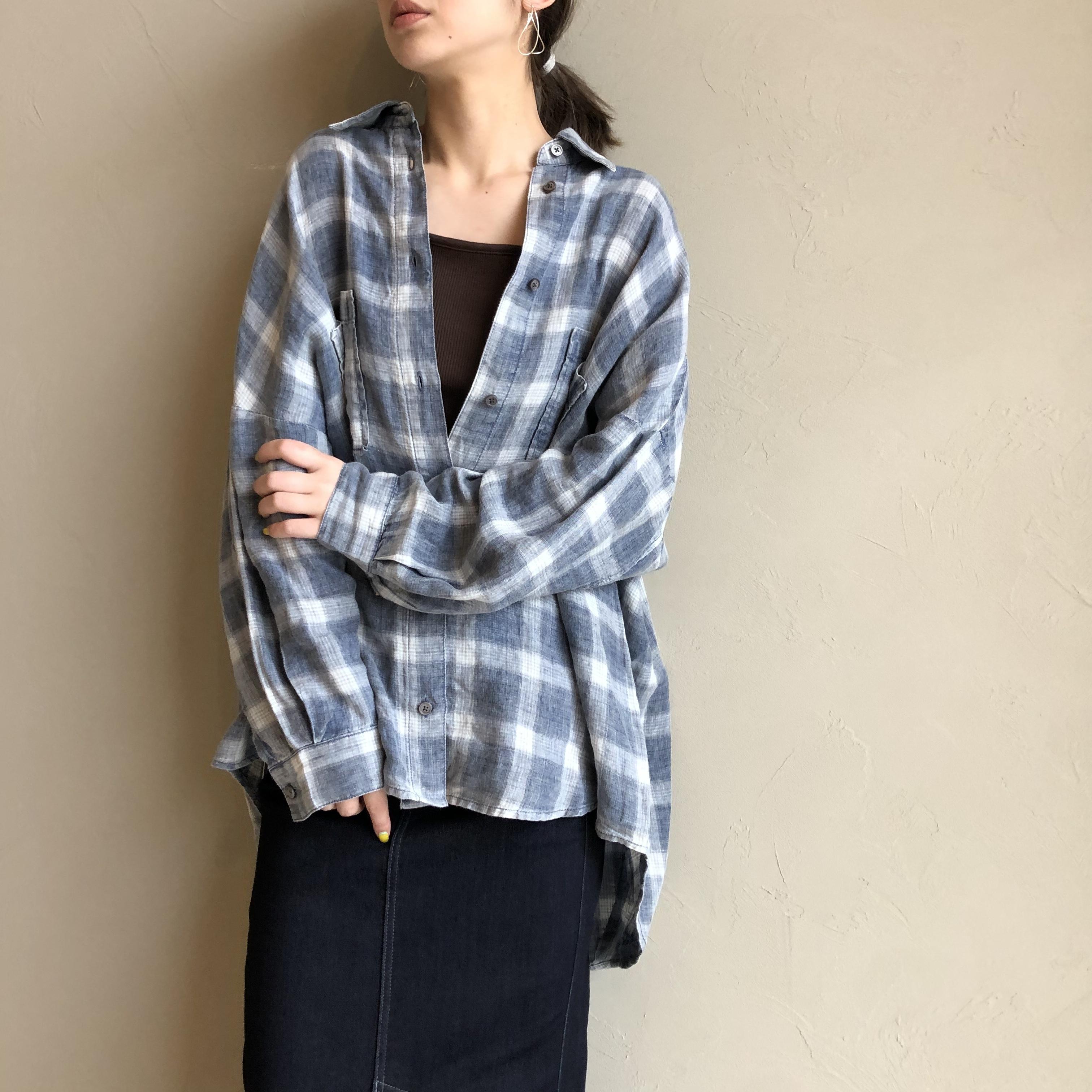 【 CYNICAL 】- 112-95142 - ビッグデニムチェックシャツ