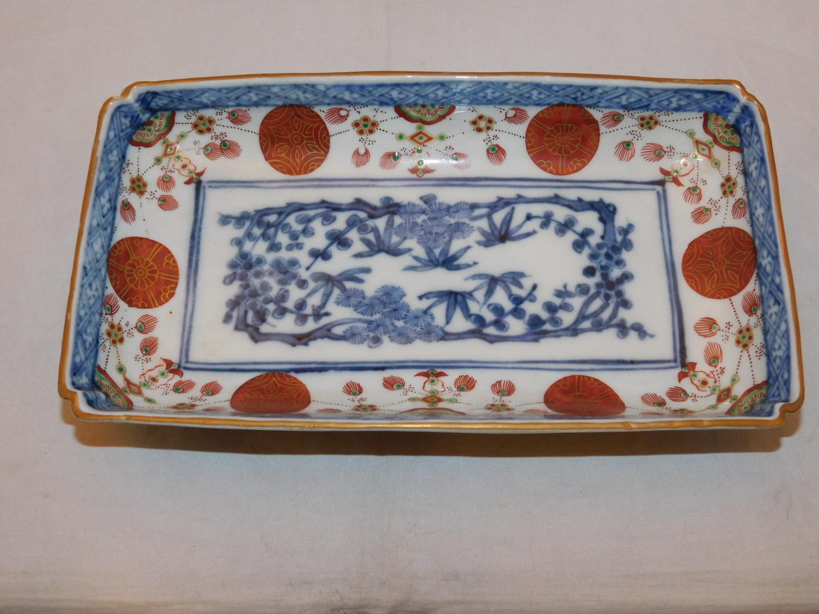 伊万里色絵長角皿 Imari porcelain plate