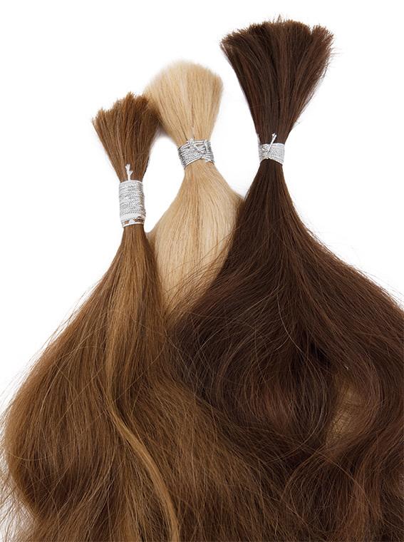 人毛 ヨーロッパ・アジアのミックス 35cm