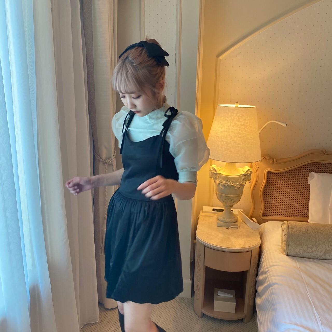 【original】princess cami onepiece(black)