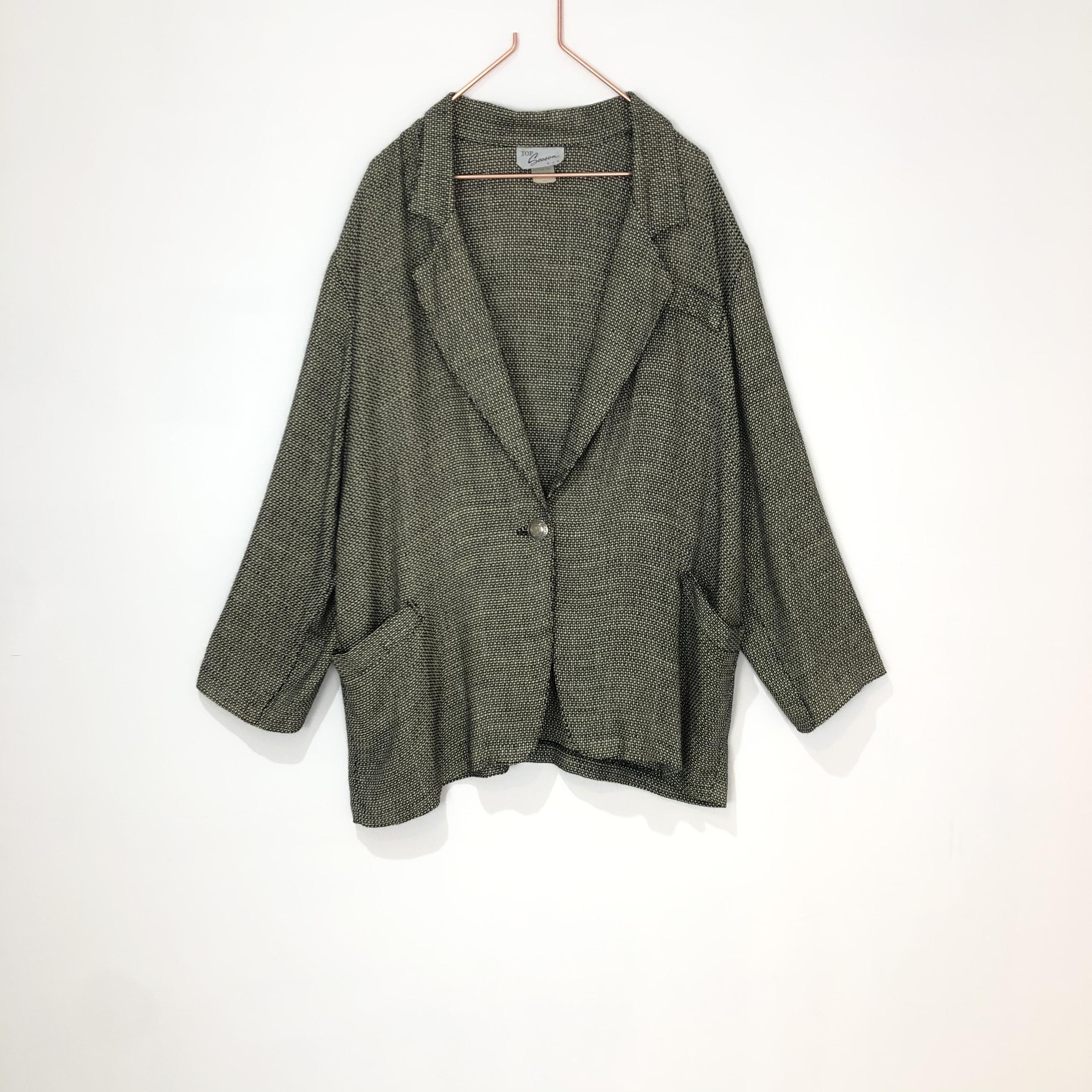 ◼︎80s vintage linen blend jacket from U.S.A.◼︎
