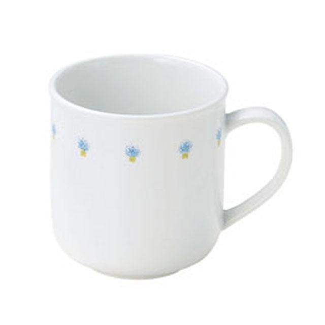 花の冠ブルー 強化磁器 マグカップ 【1925-1050】