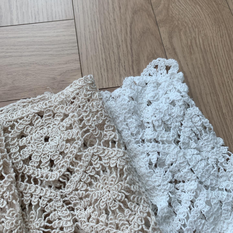 かぎ編みレースカーディガン