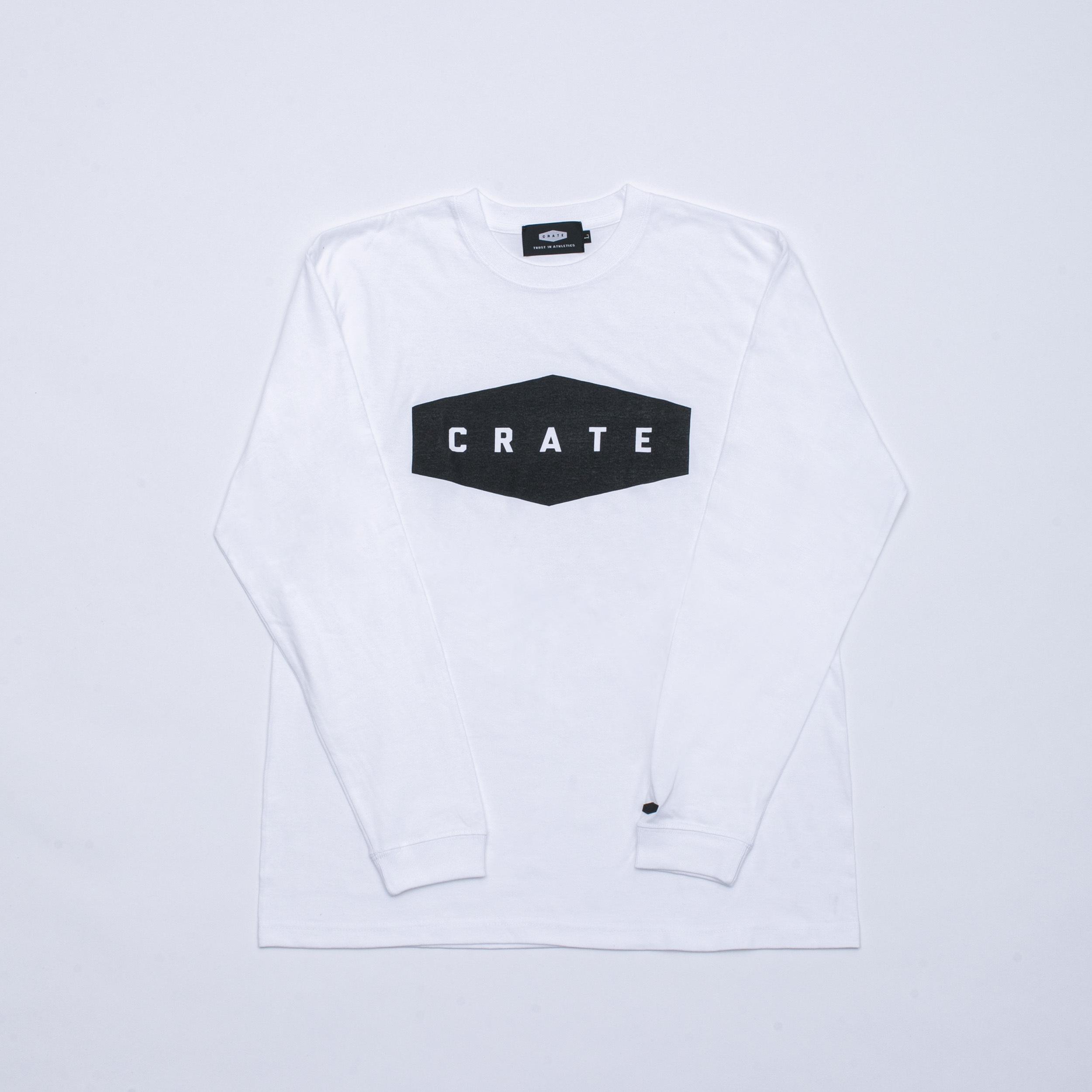 CRATE Logo L/S T-Shirts White