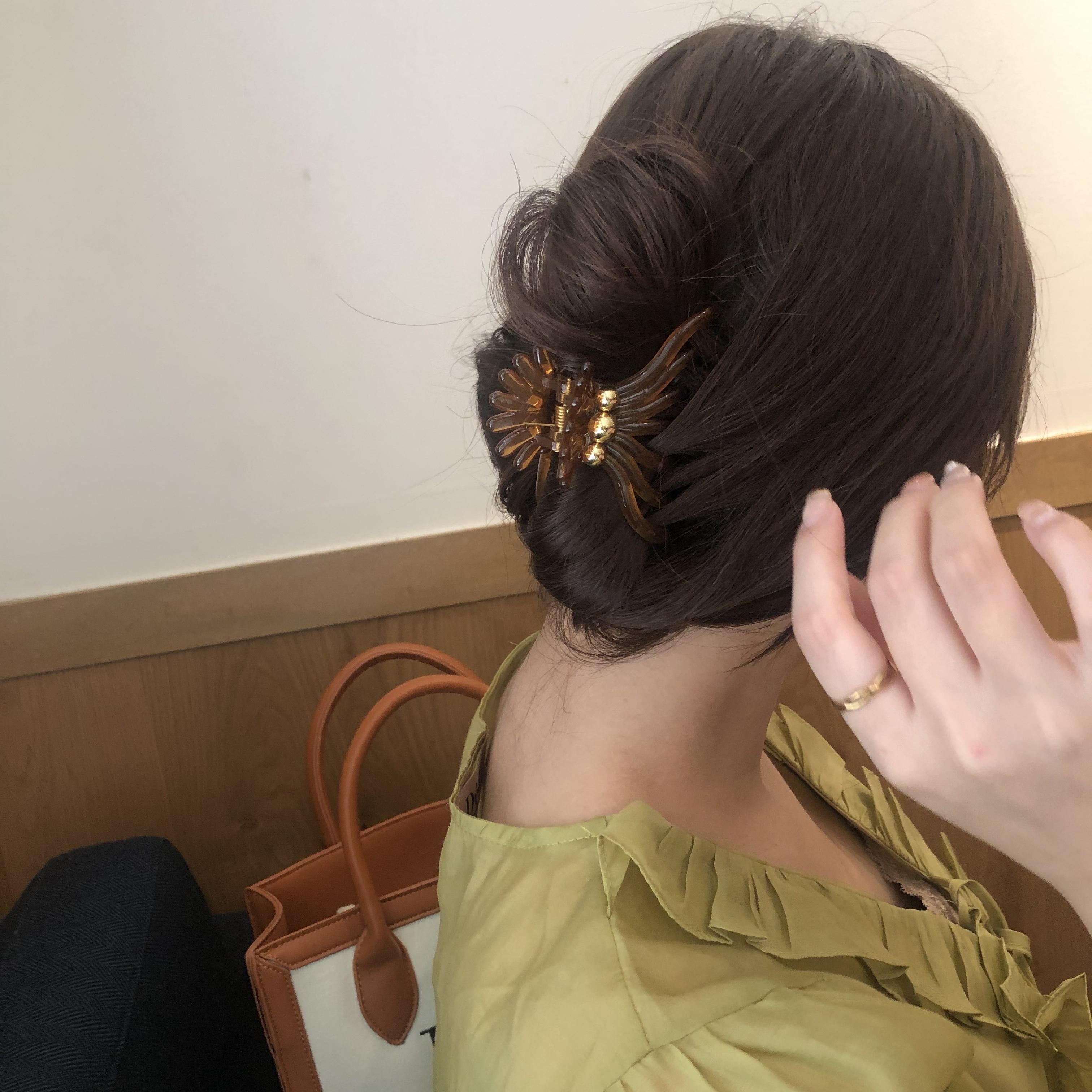 gold point hair clip