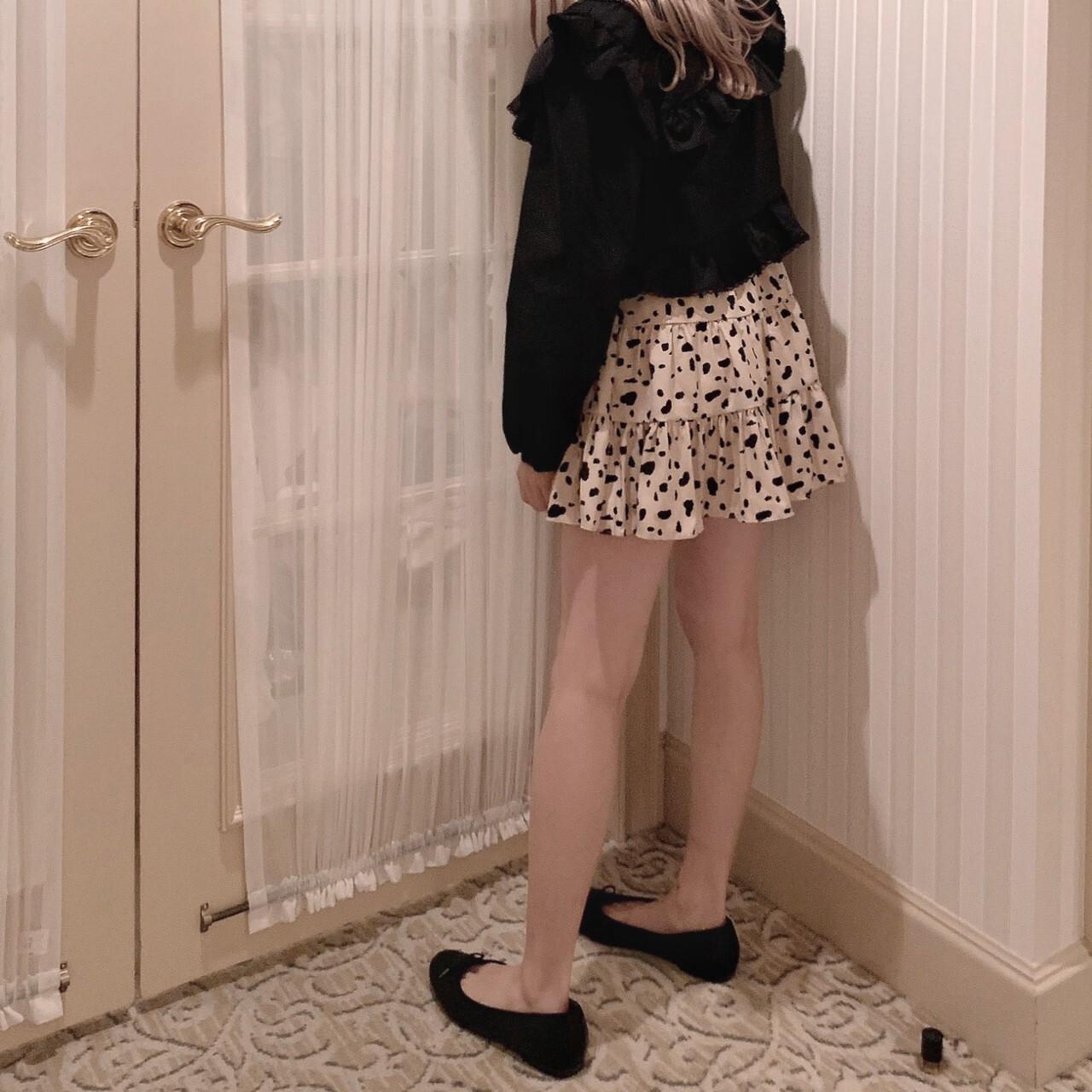再販【meltie】dalmatian mini skirt