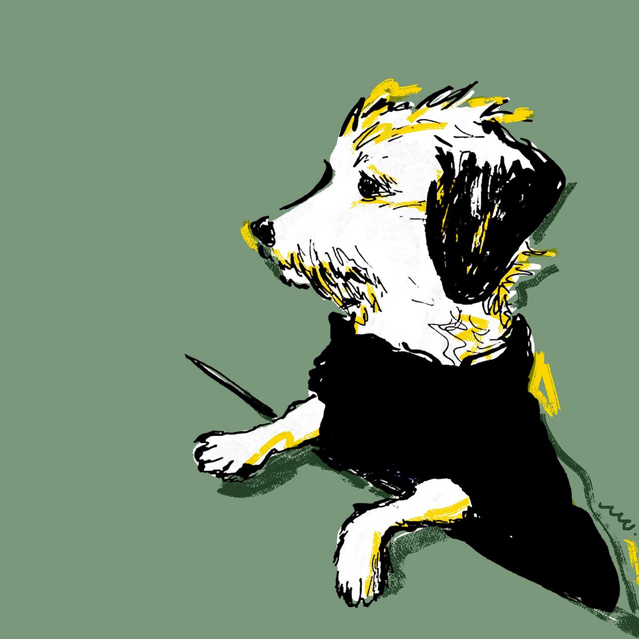 愛犬の肖像画(デジタル着彩)【受注制作】【データ納品】