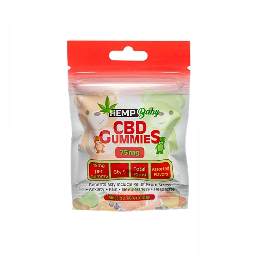 CBDグミ ヘンプベイビー 1粒 / CBD15mg / 5個入り / HEMP Baby CBD GUMMIES from U.S.