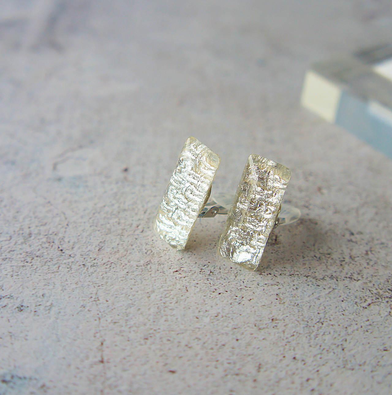 """"""" Earrings NO.0-1898″ シルバータングル 10×25㎜"""