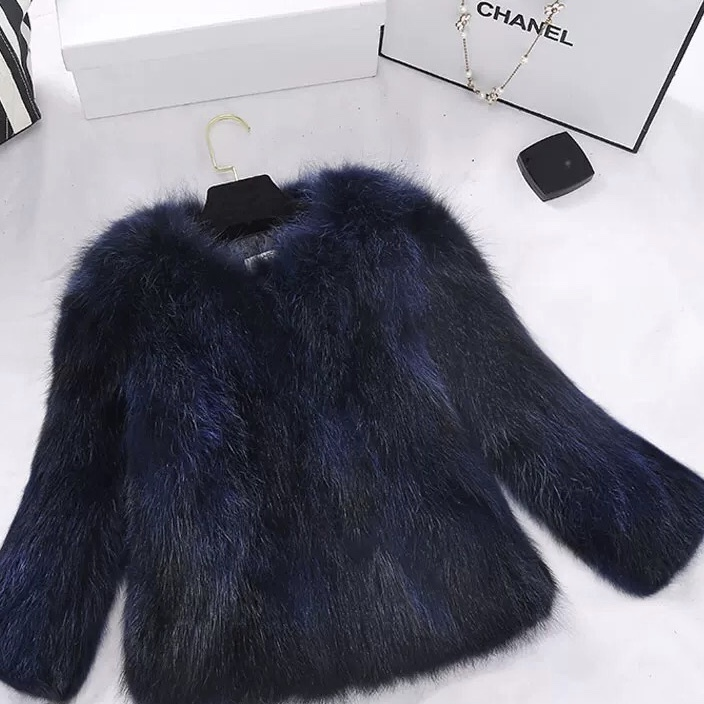 【ラスト1点】blue fur short jacket