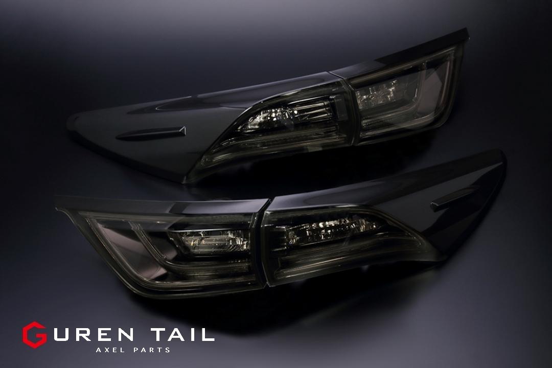 60ハリアー用ブラックテールランプ GUREN TAIL Add-BLACK IRON.Ver