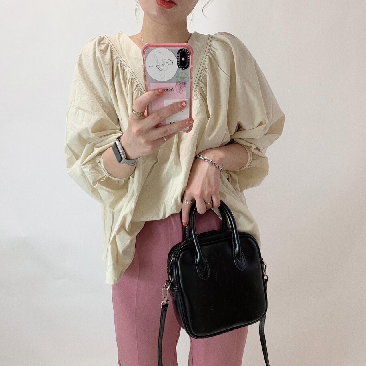 【asyu】shirring  blouse