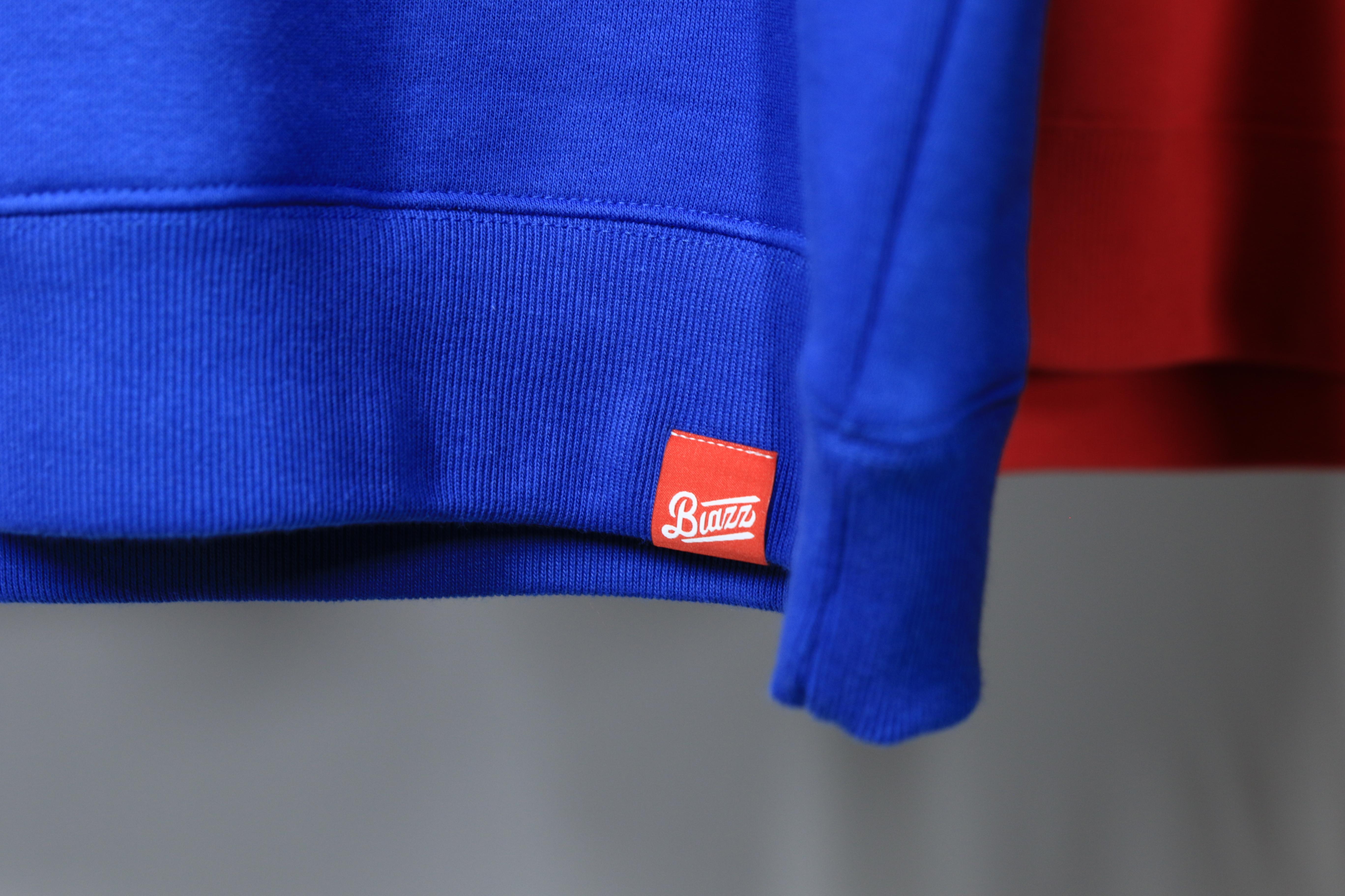 LOGO CREW NECK SWEATSHIRT [BLUE/WHITE]