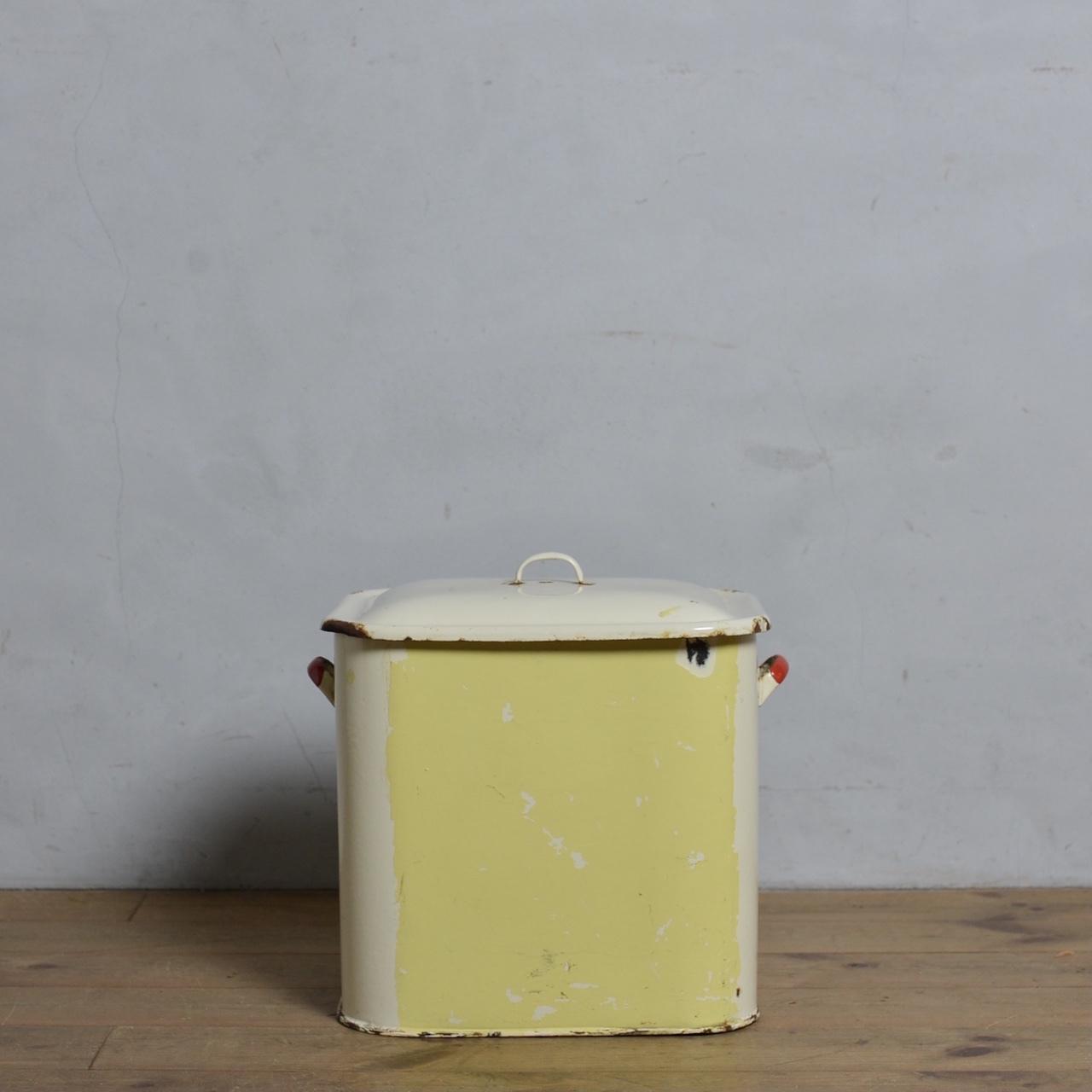 Bread Can / ブレッド カン【A】〈ブレッド缶・ボックス・収納・ホーロー・琺瑯・店舗什器・アンティーク・ヴィンテージ〉112183
