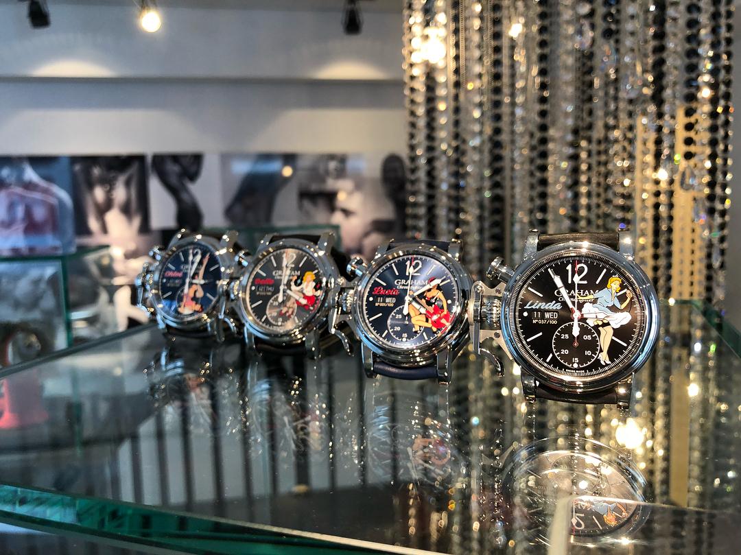 【GRAHAM グラハム】Chronofighter Vintage Nose Art Ltd クロノファイターヴィンテージ ノーズアート『Chloe クロエ』世界限定100本/国内正規品 腕時計