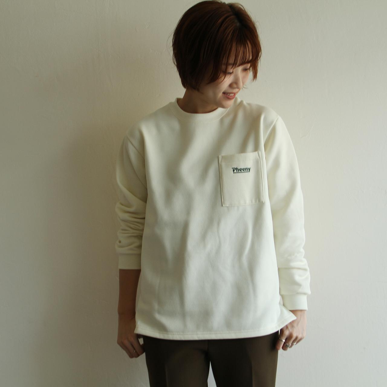 PHEENY 【 womens 】pocket long sleeve tee