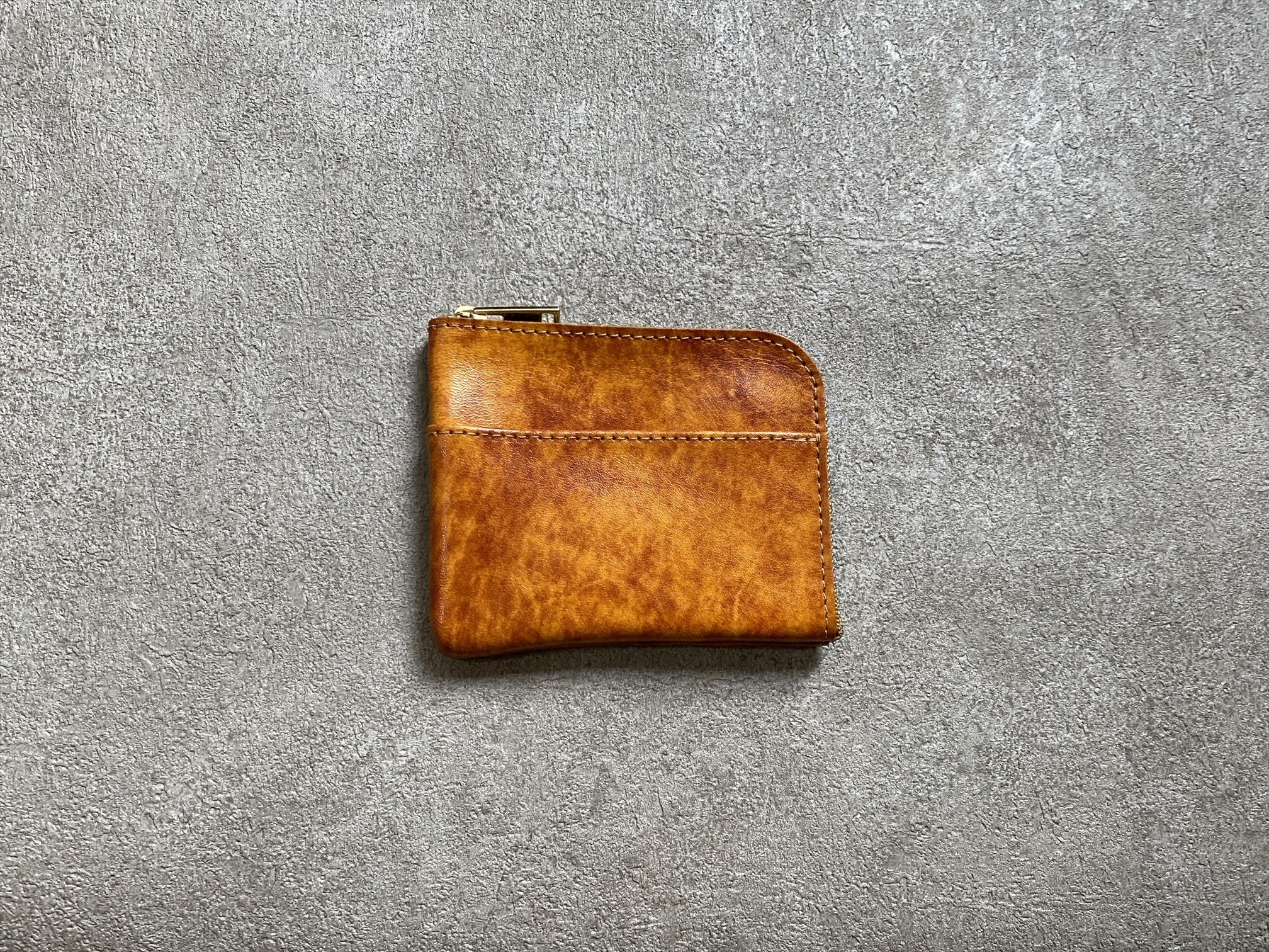 L-shaped Small Wallet: (Aniline Manufacturing method) Color : Green