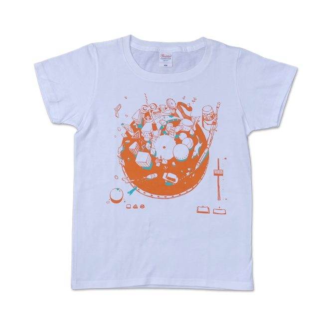 sasakure.UK『トンデモ未来空奏図』Tシャツ ホワイト(メンズ / レディース) - 画像2