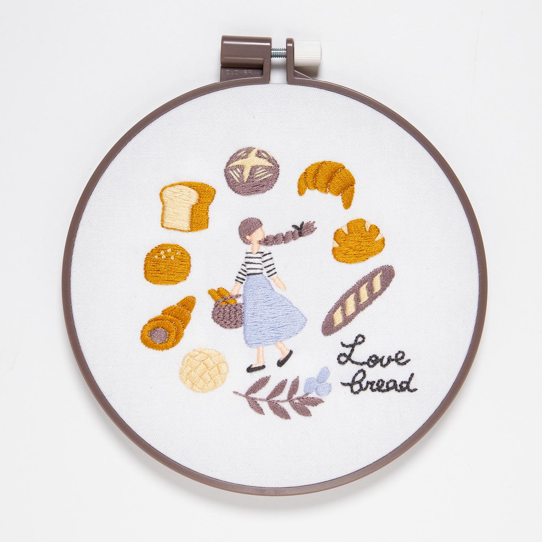 『パン屋さんめぐり』刺繍キット