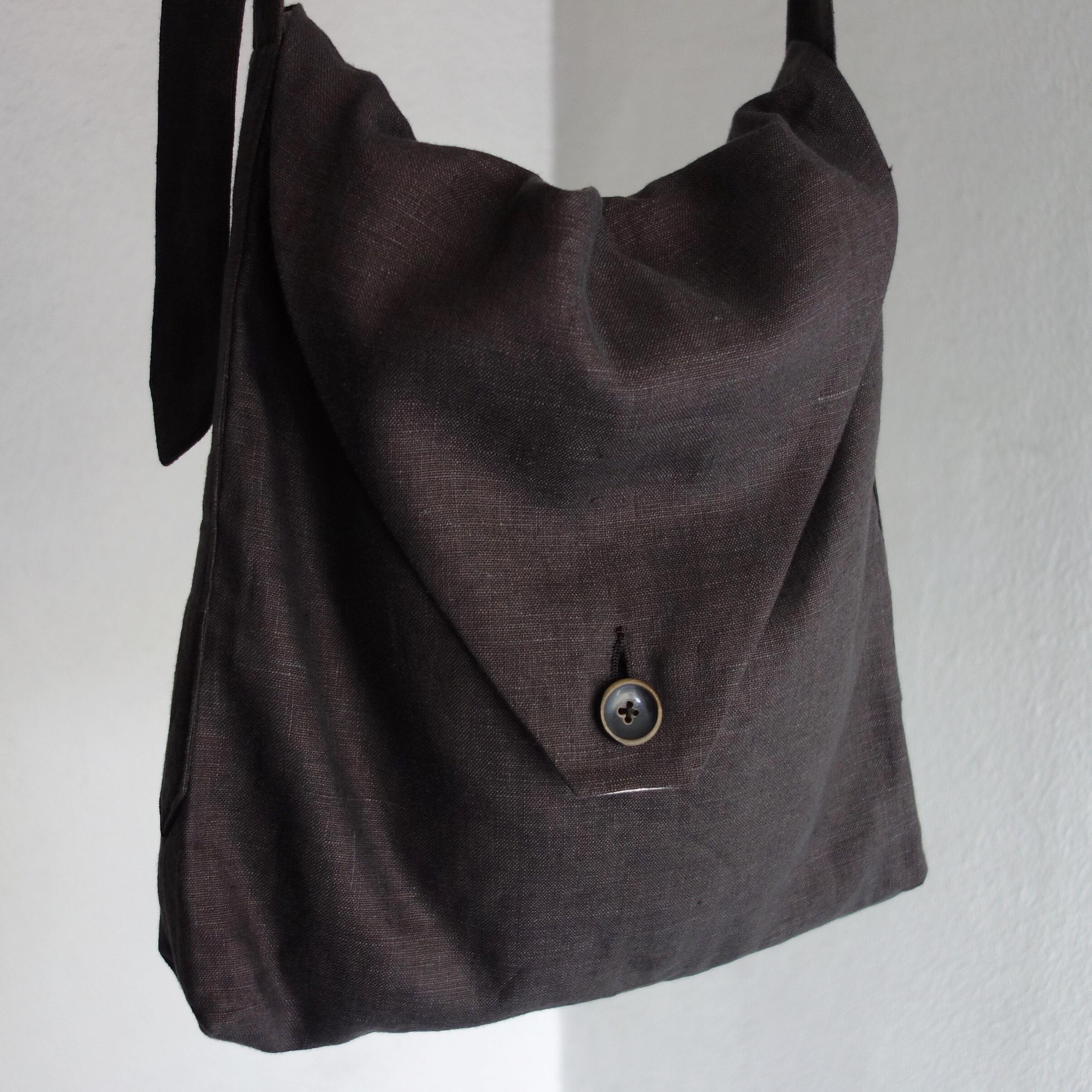 heavylinen french shoulder / charcoal