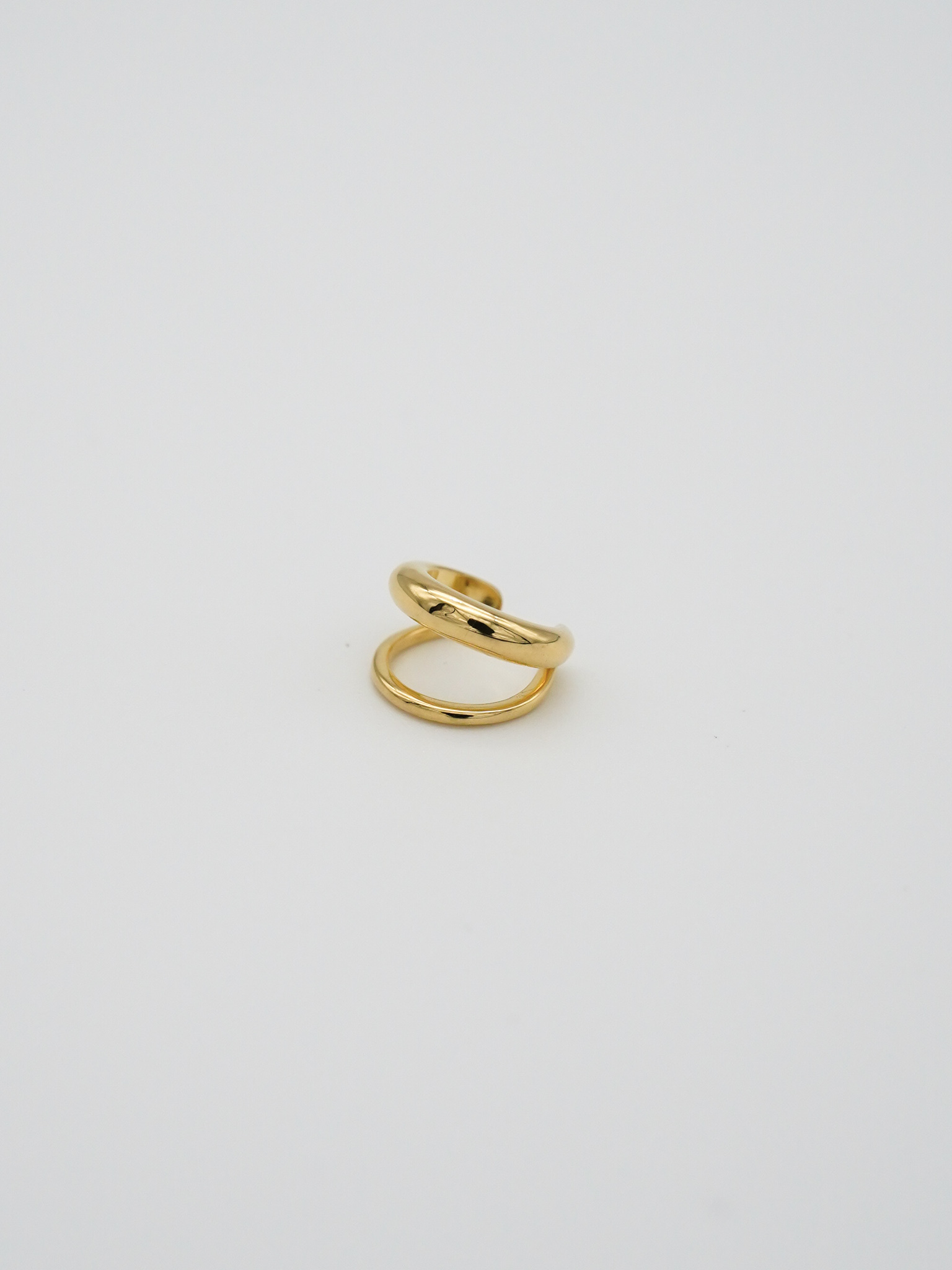 double ear cuff gold(再入荷)