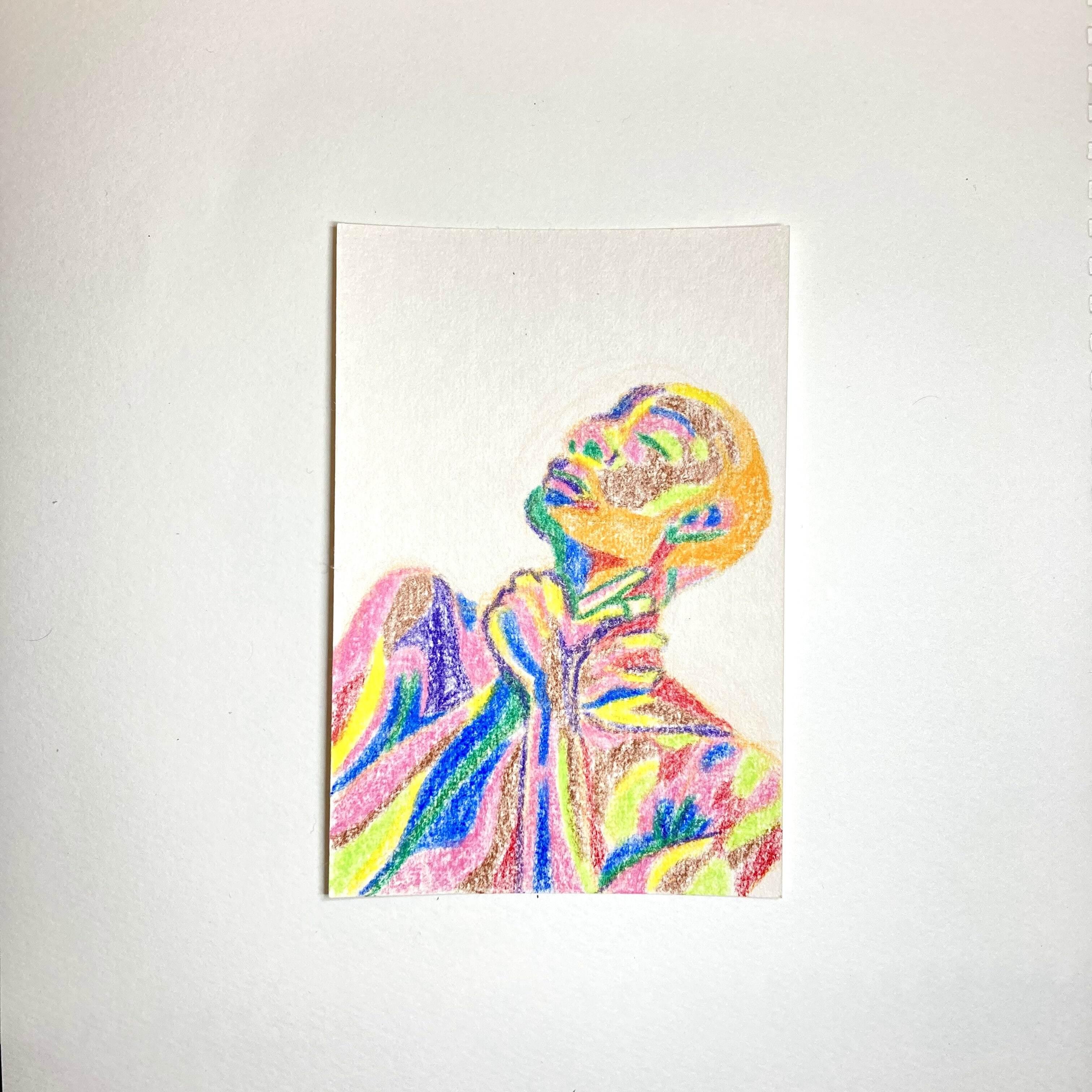 VARIOUS DRAWING / 100mm×148mm / Crayon / Original Drawing