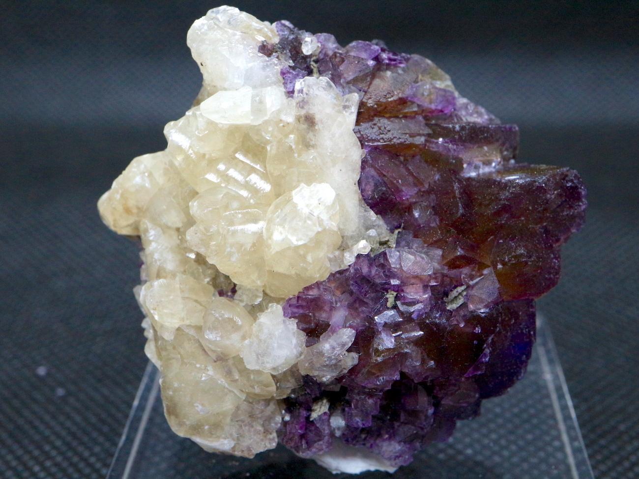 イリノイ産! フローライト+カルサイト  蛍石 原石 57,6g  FL023 鉱物 天然石 パワーストーン
