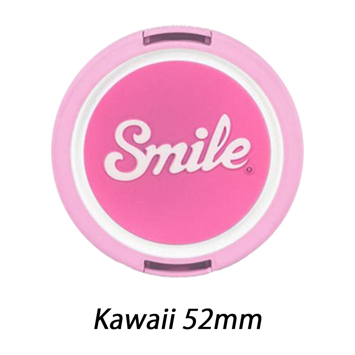 スマイル レンズキャップ Kawaii 52mm 【Smile lens caps】 sml1705304