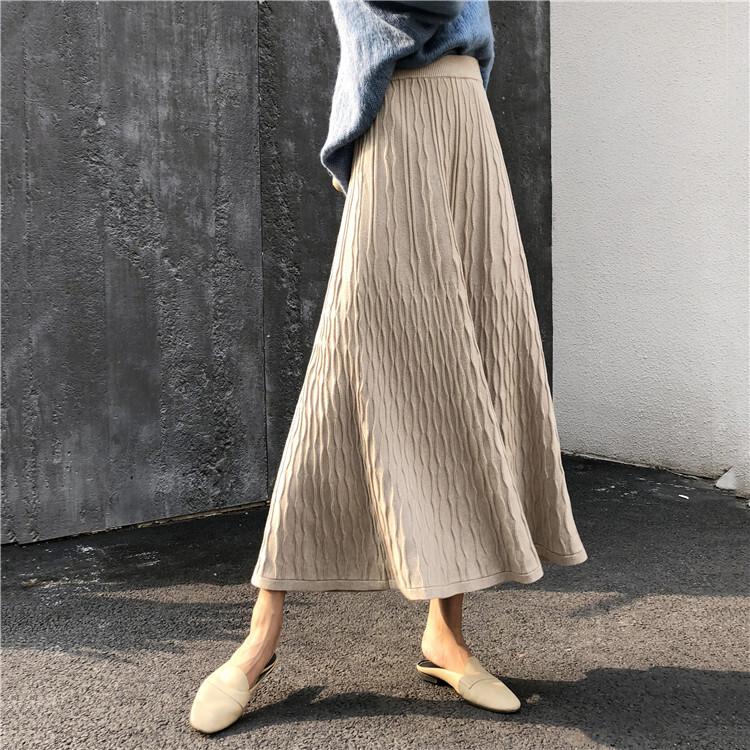 〈カフェシリーズ〉ニットロングスカート【knit long skirt】