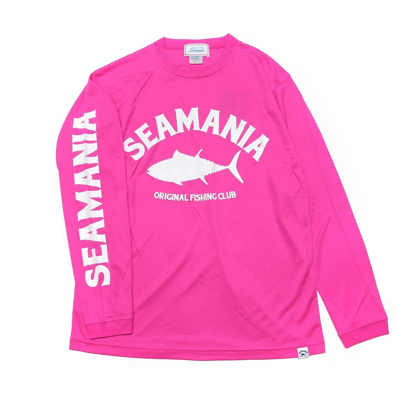 【Seamania】logo dry UV  L/S Tee [PINK]